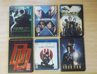 Lote DVD películas Marvel