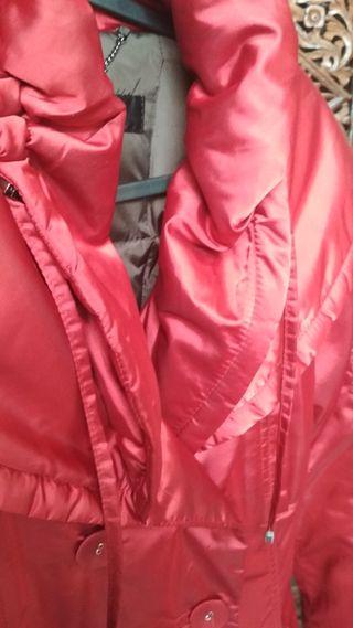 Plumifero anorak rojo Zara M