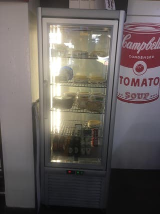 expositor frigorífico de 4 caras cristales