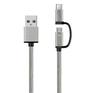 Cable Usb X-One Cdc1000s Usb A Micro + Tipo-C Plat
