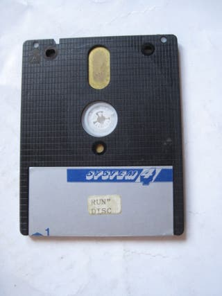 disco disquete amstrad System 4 pegatina gris disk