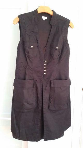 Vestido de algodón y gasa talla 42 Hoss Intropia