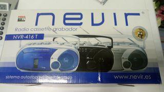 Radio casete grabador Nevir, modelo NVR416T