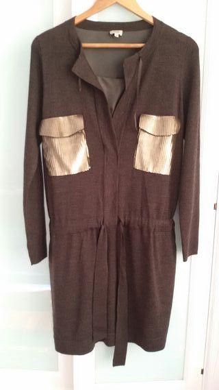 Vestido marrón talla 44 de Hoss Intropia
