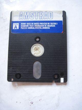 disco disquete Amstrad con pegatina azul Diskette