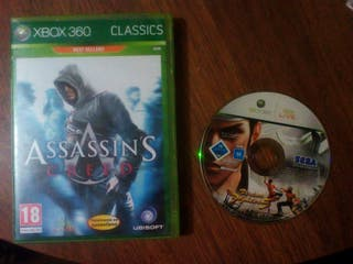 xbox 360 Assassins creed y virtual fightet 5