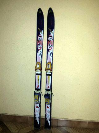 Esquís Salomon para niño niña 118 cm