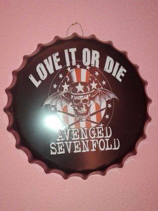 Avenged Sevenfold. Chapa Decorativa