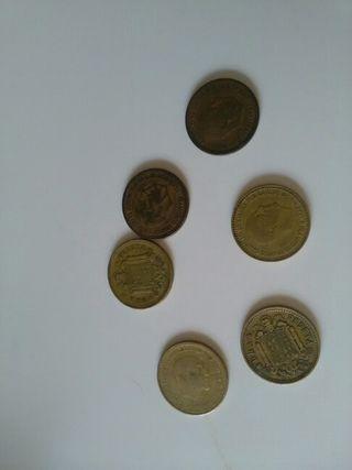 Monedas de pesetas de franco