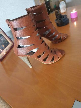 zapatos sandalia piel talla38