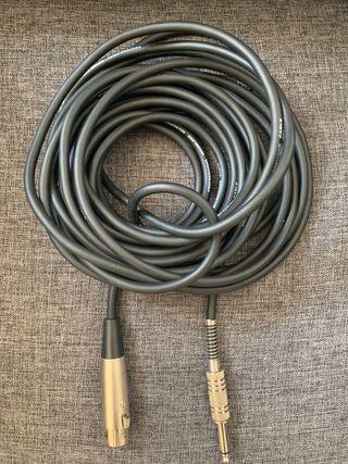Cable 5m micrófono XLR - Jack 6,3 mm alta calidad