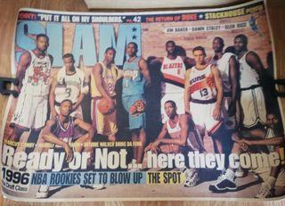 Póster retro/vintage NBA DRAFT CLASS 1996. NUEVO