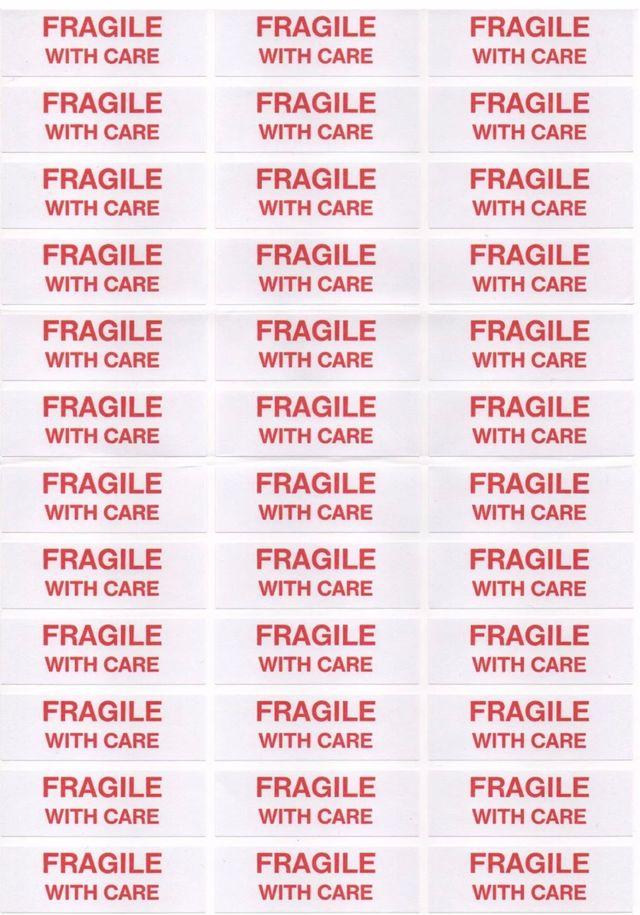 Pegatinas frágil