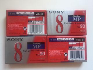 Cinta Video8 Sony PAL90 precintadas 4 unidades