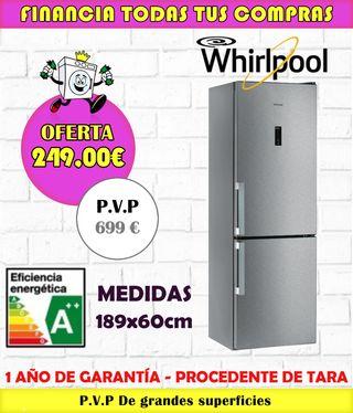 FRIGORIFICO WHIRLPOOL A++ 189x60CM