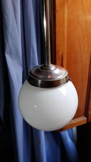 Lámpara techo tulipa bola cristal blanca