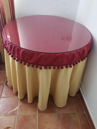 Mesa de camilla extensible + ropa de camilla