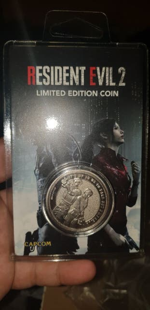Resident evil 2 Remake Moneda Coin Ps4-xbox one
