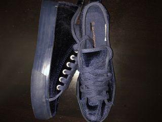 Zapatillas azules (gamusa)para chica Inextenso #39