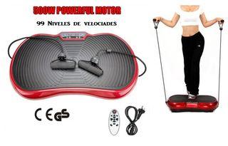 Plataforma vibratoria con tensores. Fitness