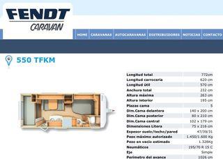Caravana Fendt Saphir 550 TFKM
