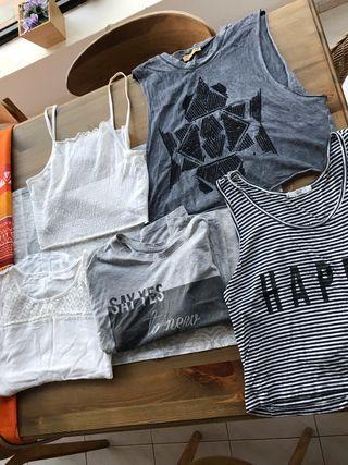 5 camisetas variadas de marca