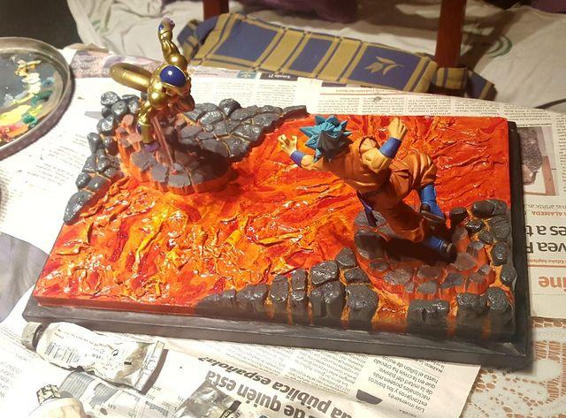 Diorama para Golden Freezer y Goku blue Dios Sc 5