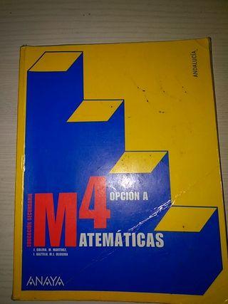 Libro de matemáticas cuarto de ESO