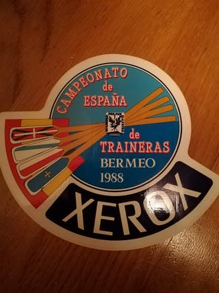 Cartel y pegatina campeonato traineras 1988