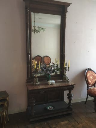 Mueble entrada antiguo para restaurar