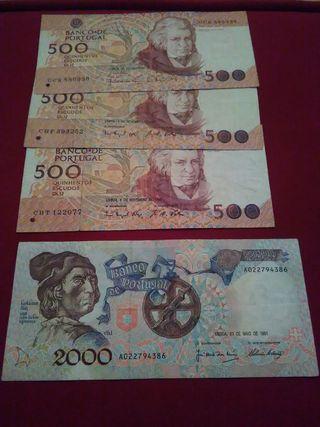 billetes de portugal