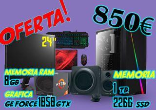 PC GAMING TORRE, PANTALLA, ALTAVOCES Y MAS