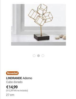 Nuevo Estrenar Adorno ikea Lindrande Acero Dorado