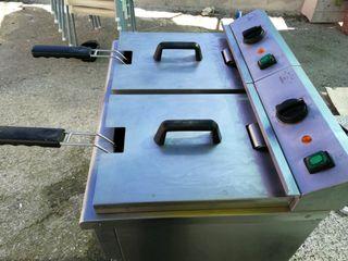 Freidora industrial 8+8 litros Horeca
