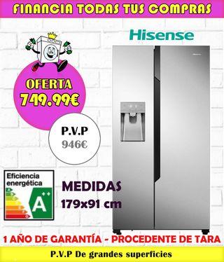 FRIGORIFICO AMERICANO HISENSE A++ 179X91CM