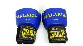 Guantes Boxeo Charlie Malaria Blanco y Azul 83327