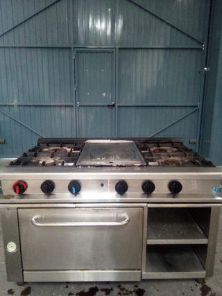 cocina IMEGAS 4 fuegos mas plancha mas horno