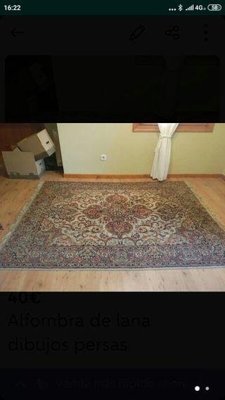 vendo alfombra lana.