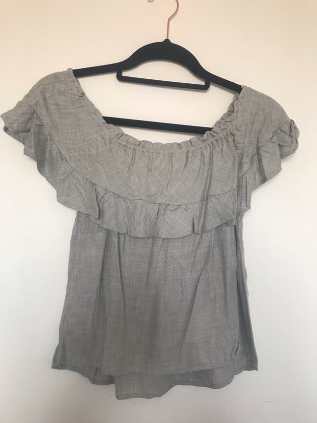 Stradivarius light grey sleeveless top