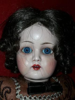 muñeca antigua cabeza porcelana