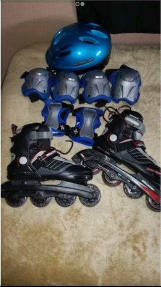 patines el linea del 35 al 40 un uso nuevos.