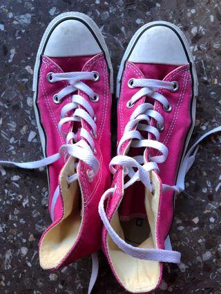 Bambas Converse mujer color rosa fucsia