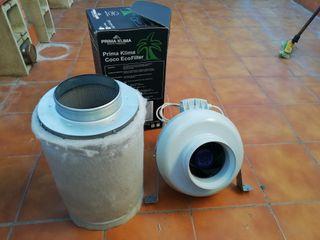 Extractor y filtro de carbono