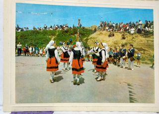 Antiguas postales dantzaris vascos