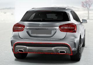 Difusor trasero para Mercedes GLA