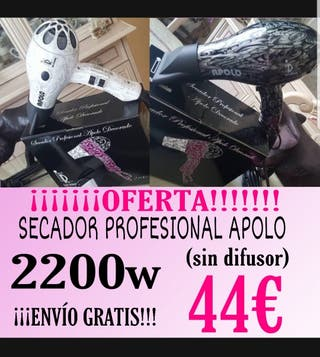¡¡¡OFERTA!!! SECADOR PROFESIONAL APOLO 2200w