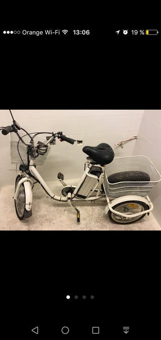 triciclo eléctrico semi nuevo