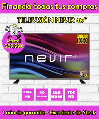 "TELEVISIÓN NEVIR 40"" LED FULL HD 1080"