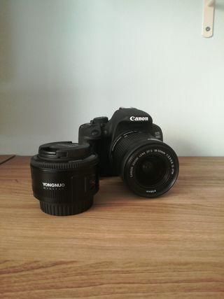 Cámara Canon 700D + EFS 18-55mm y Yongnuo 50mm
