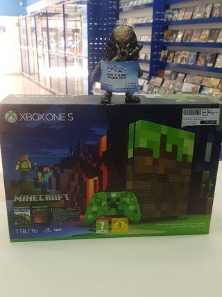 XBOX ONE S EDICION ESPECIAL DE MINECRAFT NUEVA!!